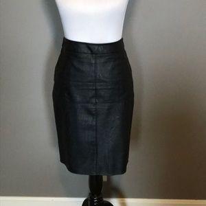 Cabi 'vegan' leather pencil skirt